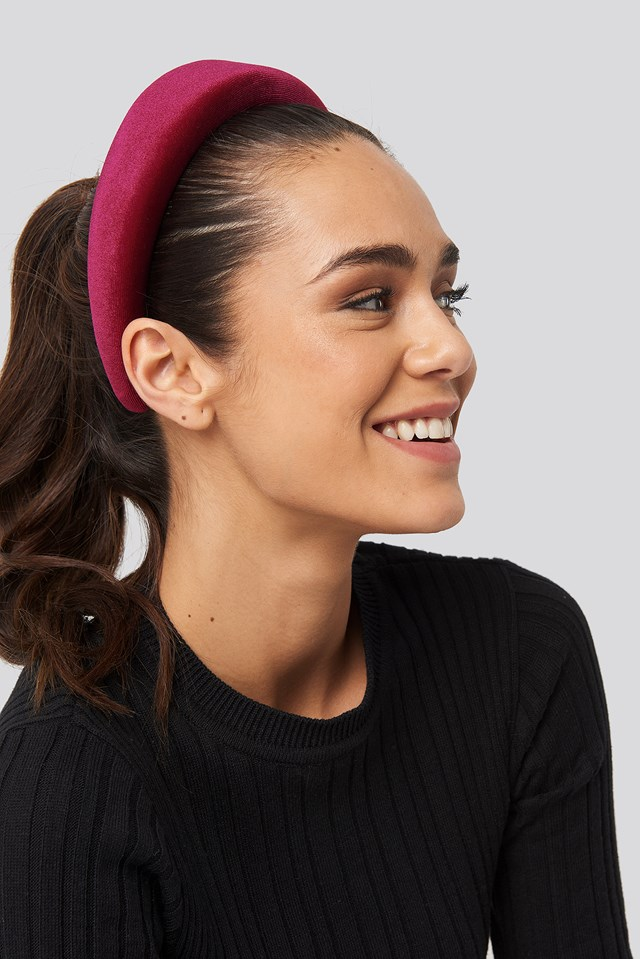 Puff Velvet Hairband Burgundy