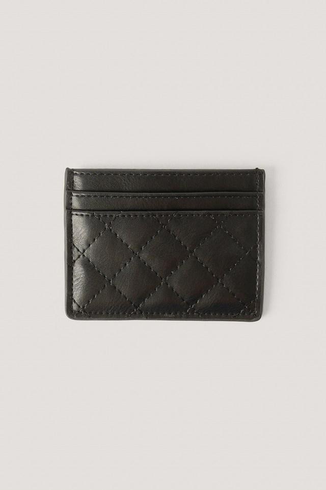 Quilted Card Holder Black