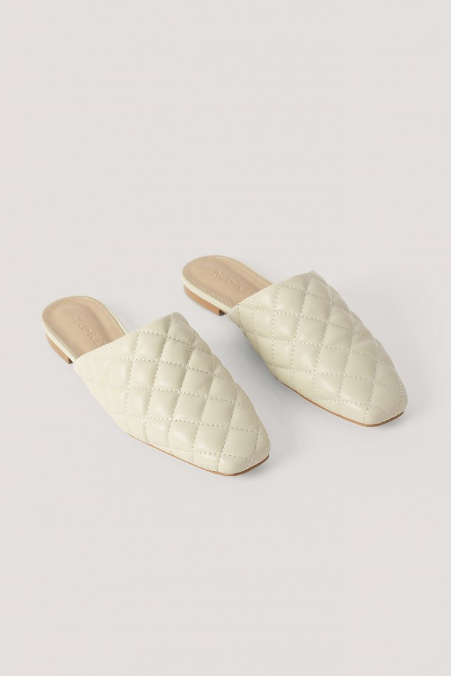 Quilted Loafers Offwhite