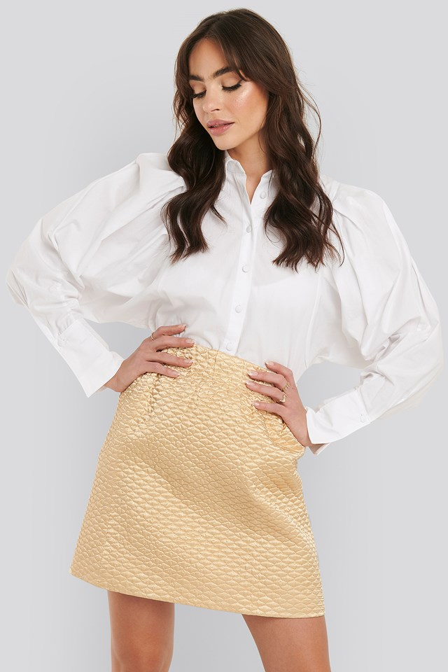 Quilted Mini Satin Skirt NA-KD Trend