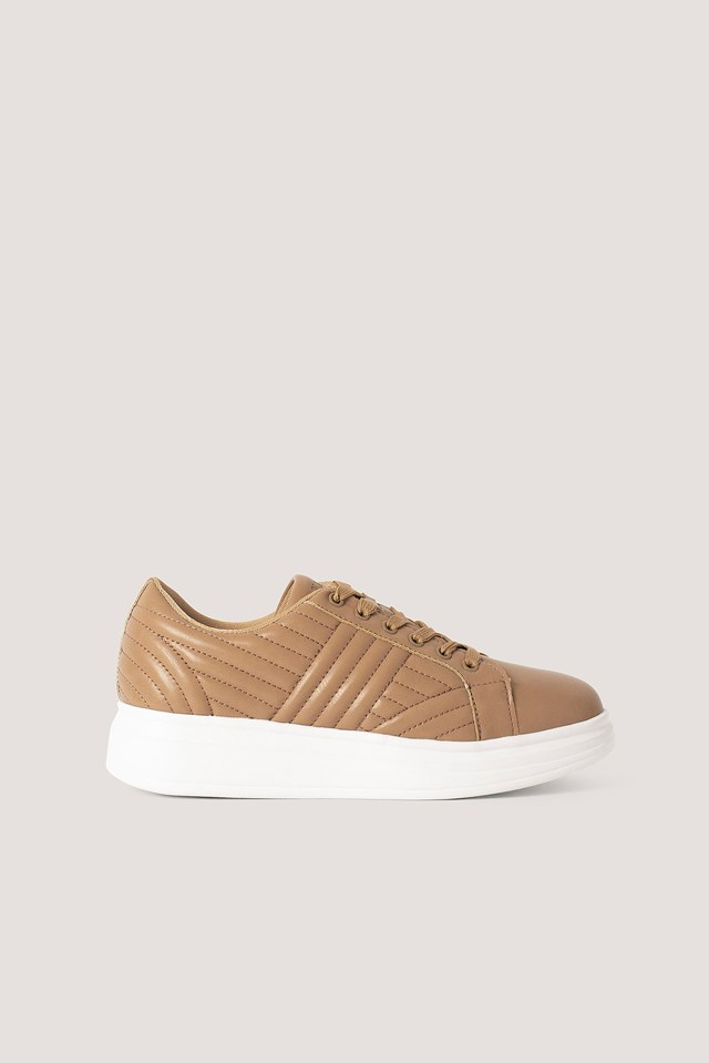 Quilted Sneakers Beige