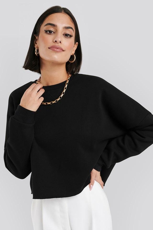 Raw Edge Sweater Black