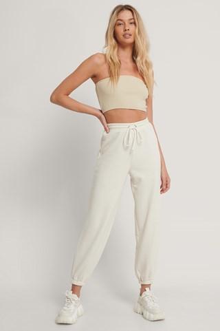 Offwhite Drawstring Elastic Sweatpants