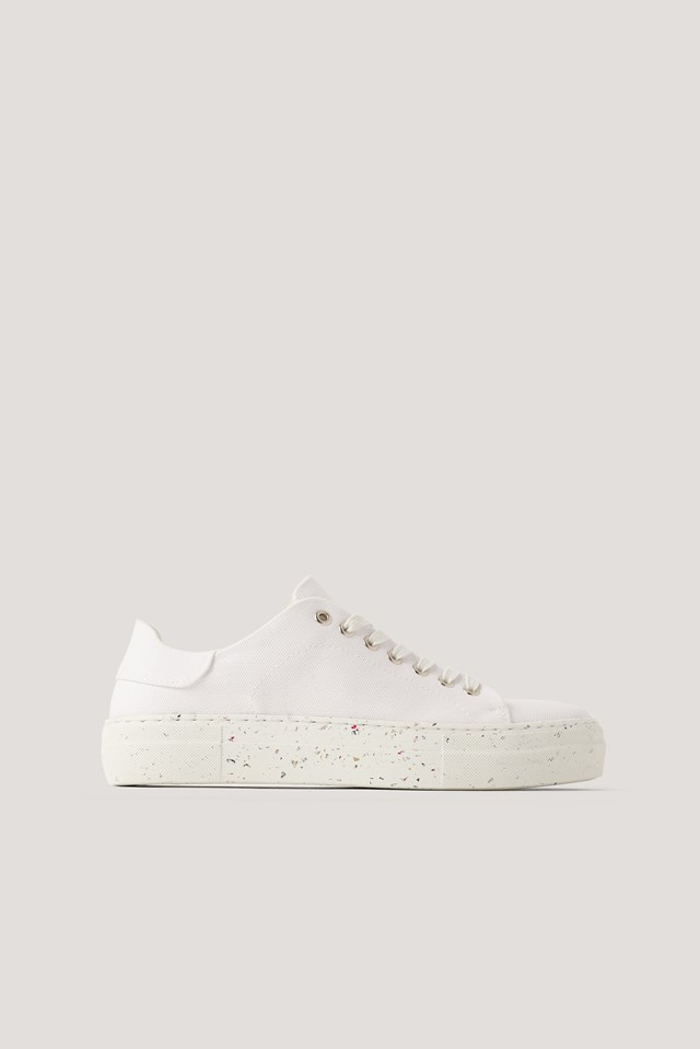 Recycled Canvas Trainers White