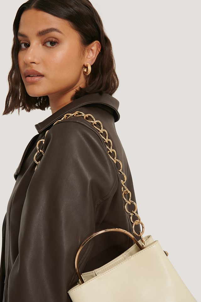 Removable Chunky Bag Chain Gold