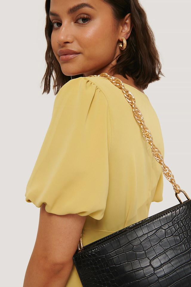 Removable Chunky Twisted Bag Chain Gold