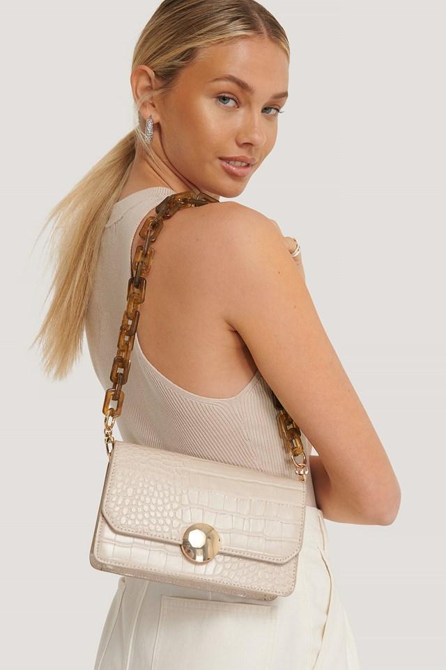 Removable Resin Shoulder Bag Strap Brown