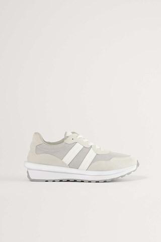 Grey Retro Daddy Sneakers