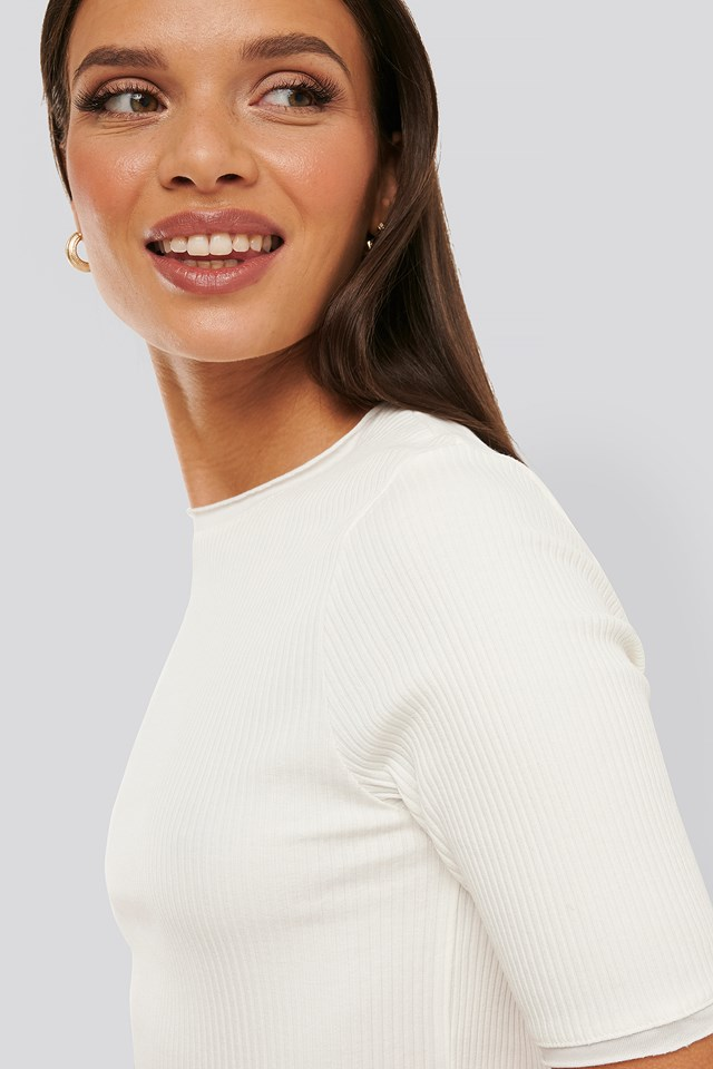 Ribbed Round Neck Cropped Top NA-KD