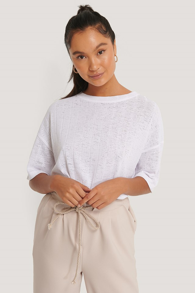 Ribbed Top White