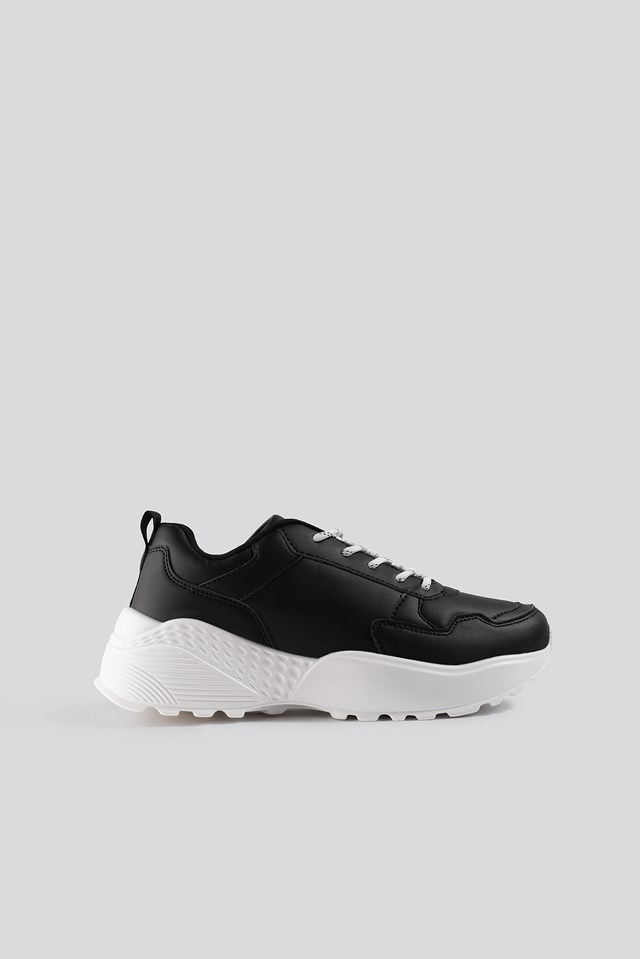 Rubber Detail Trainers Black