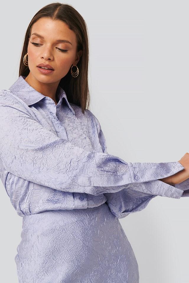 Satin Wrinkle Shirt Lilac