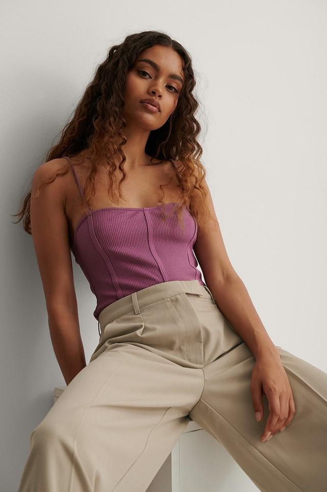 Seam Detail Singlet Purple