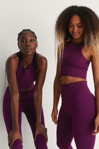 Purple Recycled Seamless Cropped Tank