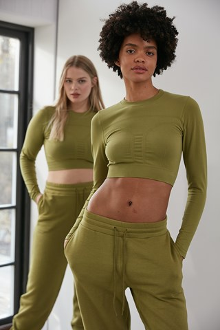 Moss Seamless Long Sleeve Top