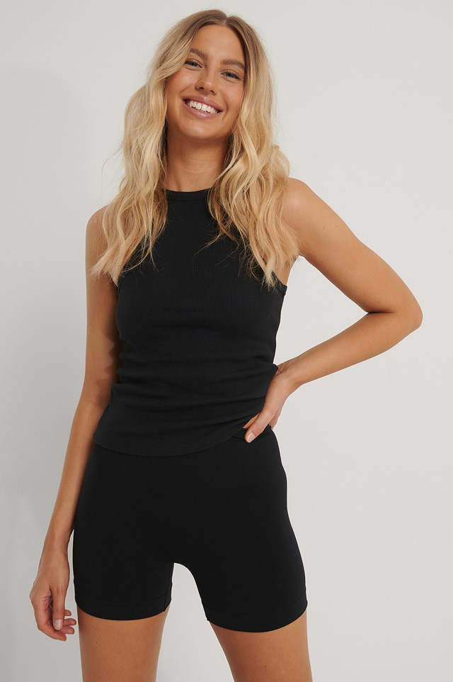 Recycled Shaping Control Shorts Black