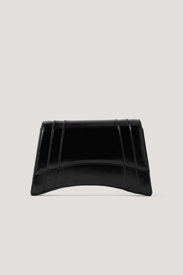 Sharp Edge Shoulder Bag Black