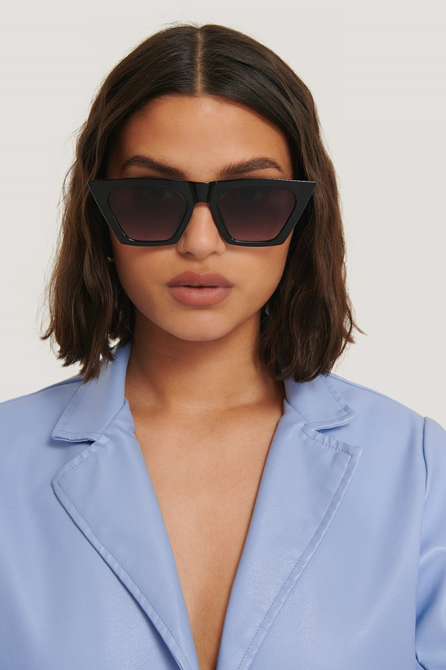 Sharp Square Cateye Sunglasses NA-KD Accessories