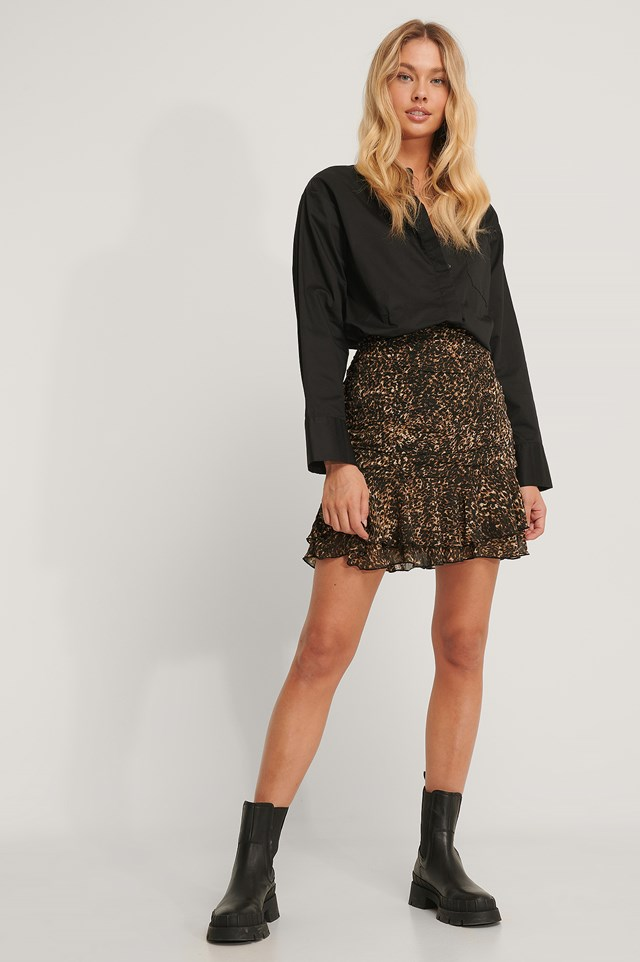 Sheer Mini Skirt Leo
