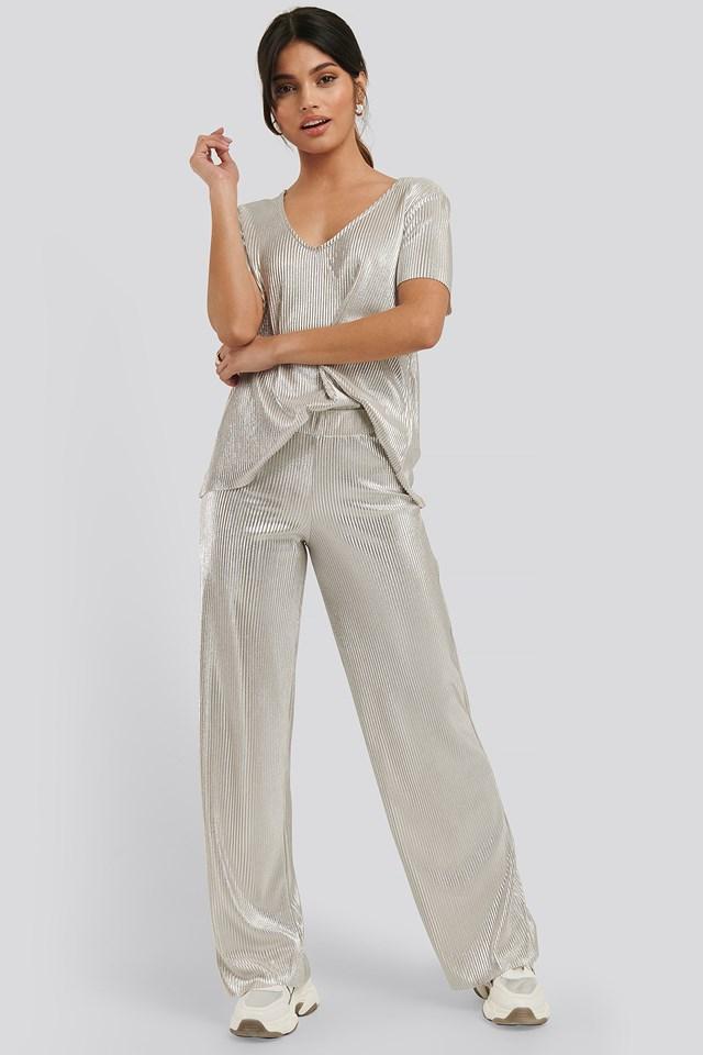 Shimmer Pants Silver