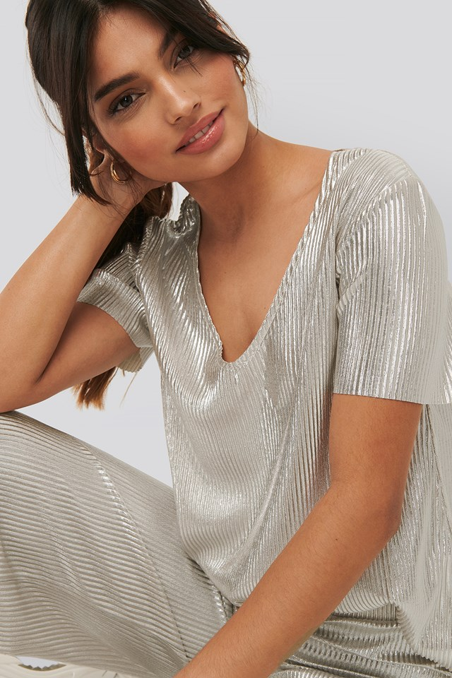 Shimmer Top Silver