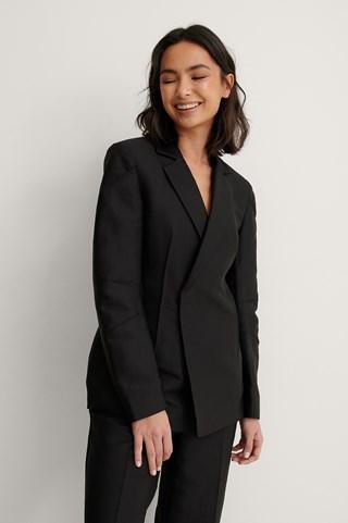 Black Shiny Blazer