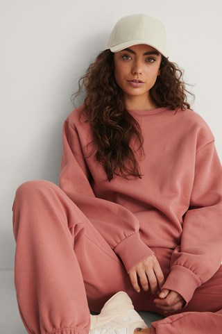 Dusty Pink Organic Shoulder Pad Sweatshirt