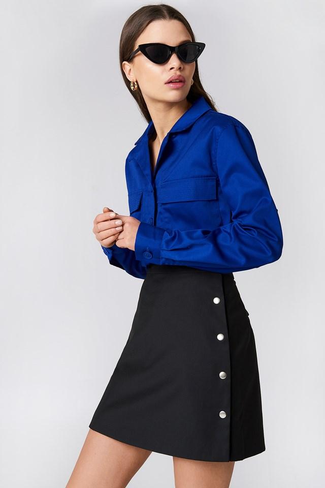 Side Poppers Mini Skirt NA-KD