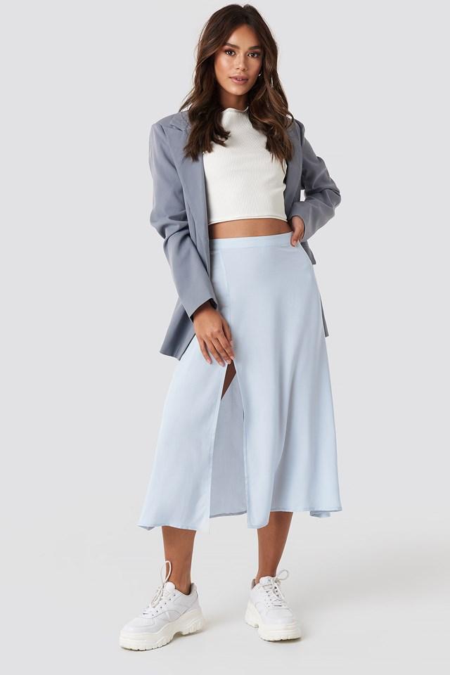 Side Split Midi Skirt NA-KD