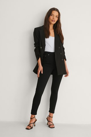 Black Organic Skinny High Waist Jeans Petite