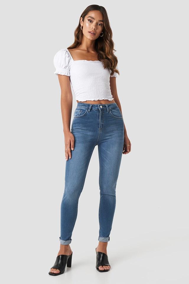 Skinny Raw Hem Jeans NA-KD