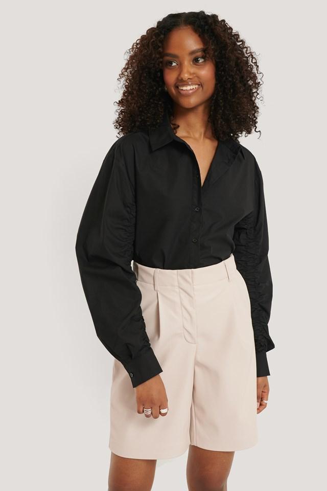 Black Sleeve Detail Shirt