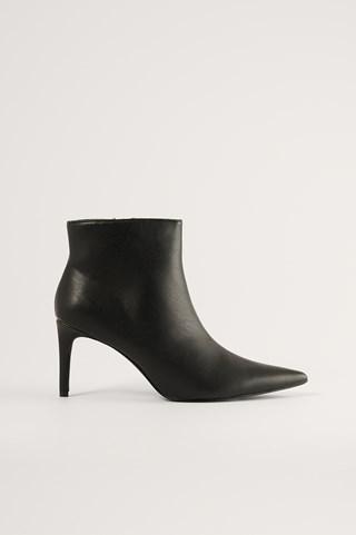 Black Slim Pointy Stiletto Boots