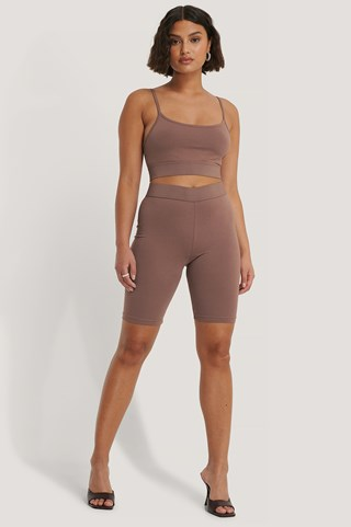Dusty Dark Pink Slim Short Tights