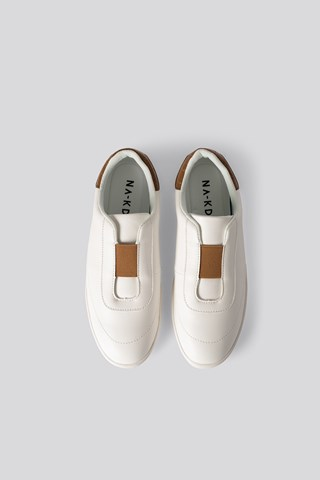Offwhite/Butterrum Slip In Trainers