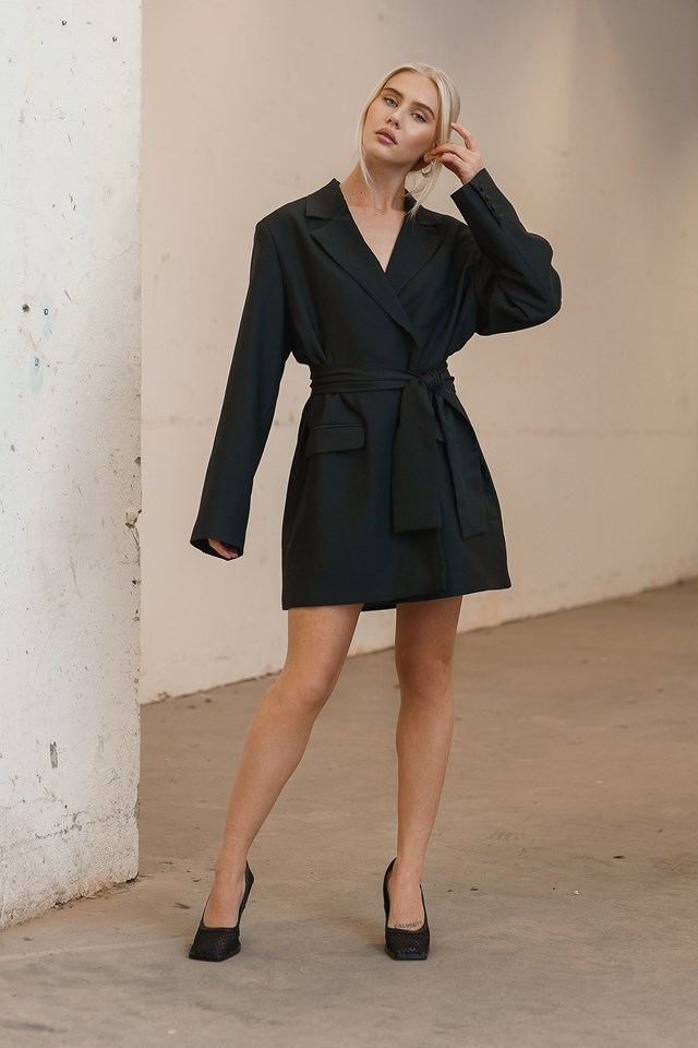 Oversized Blazer Dress Black