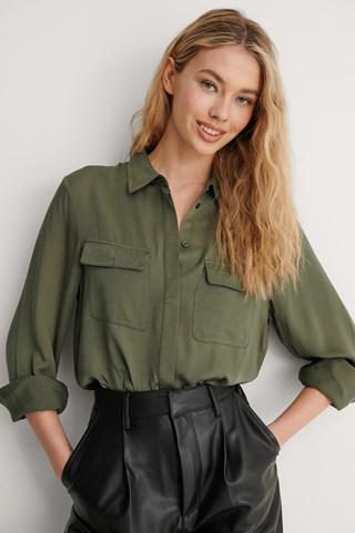 Khaki Soft Double Pocket Shirt