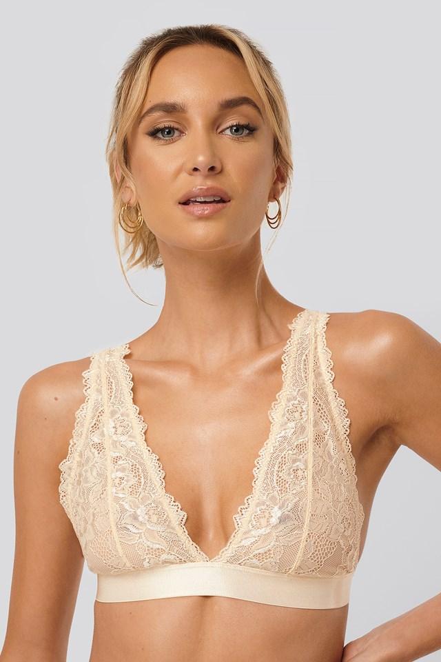 Soft Lace Bra Pearl