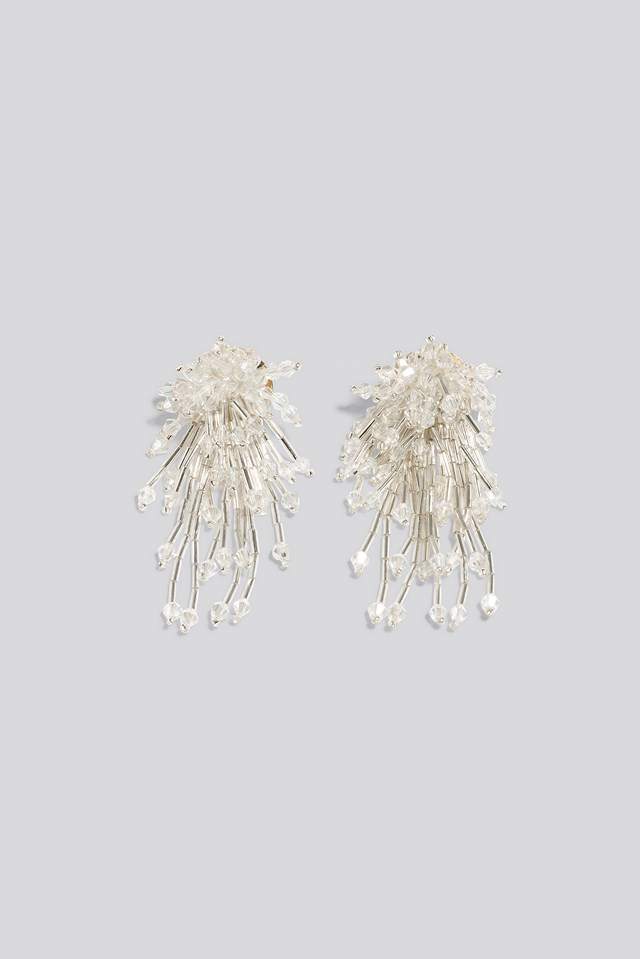 Sparkling Firework Beaded Earrings NA-KD Accessories