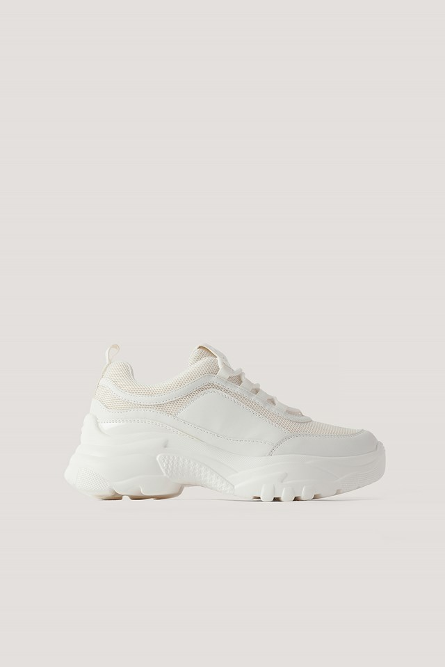 Sporty Mesh Trainers White