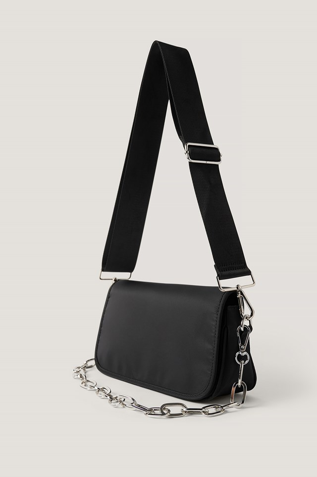Sporty Shoulder Bag Black