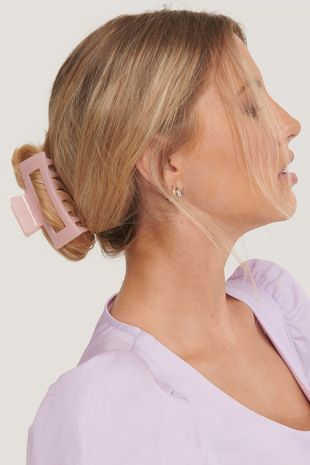 Square Hairclip Pink
