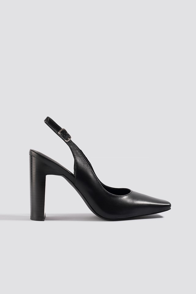 Squared Front Slingback Pumps NA-KD Shoes