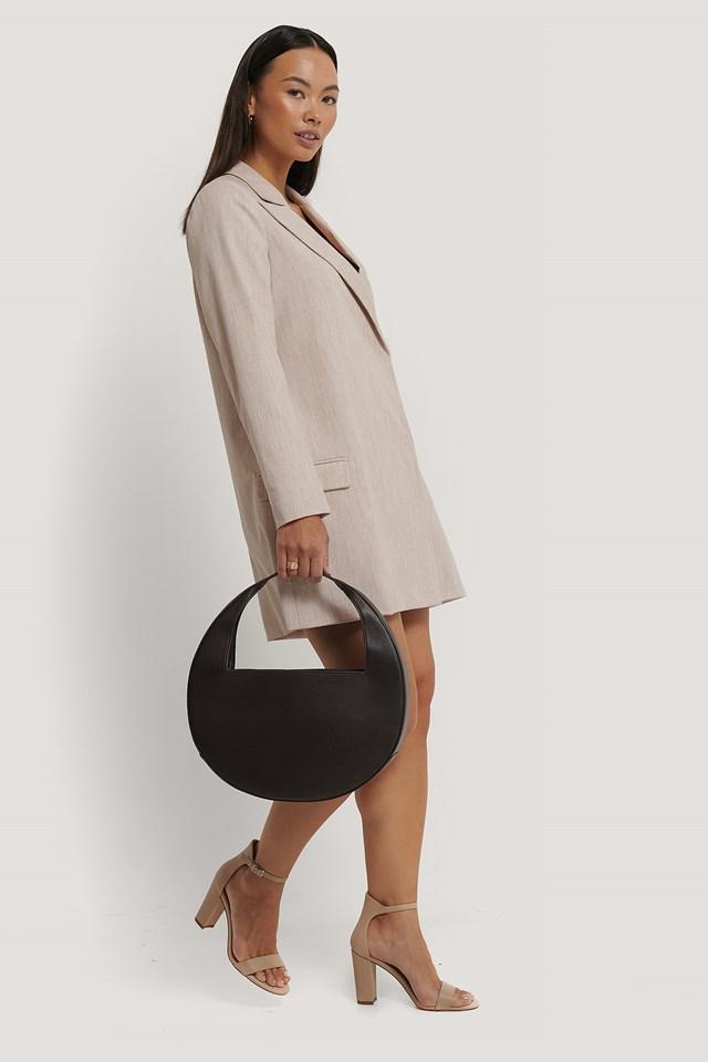 Squared Handle Moon Bag Mocha