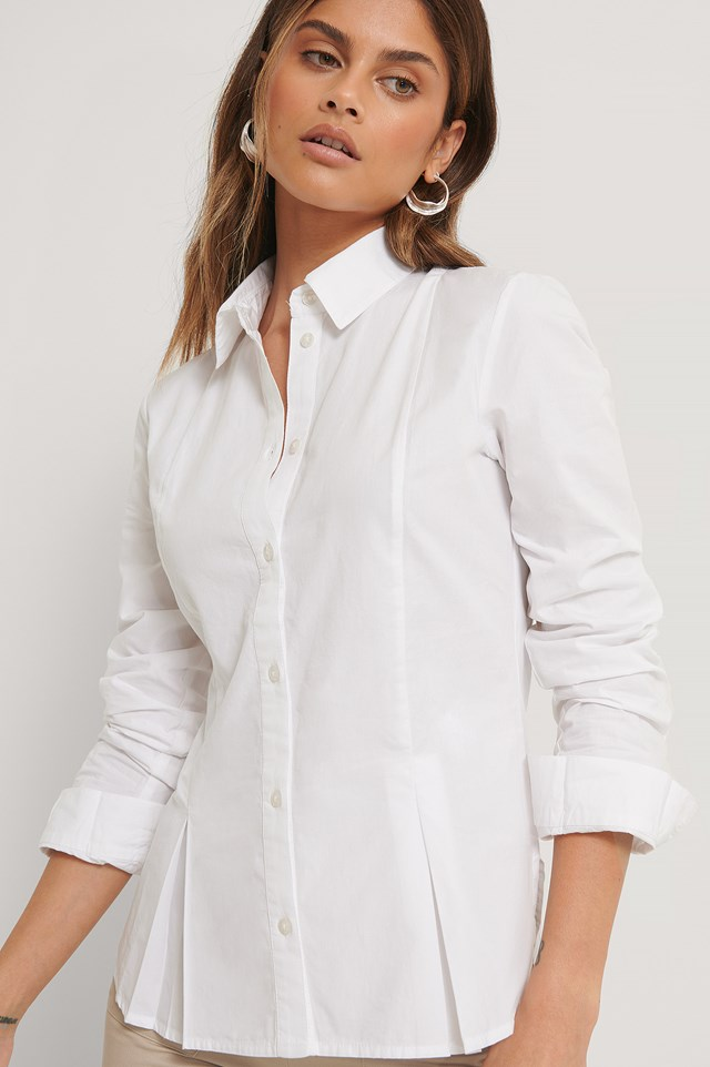 Front Buttoned Shirt cotton White