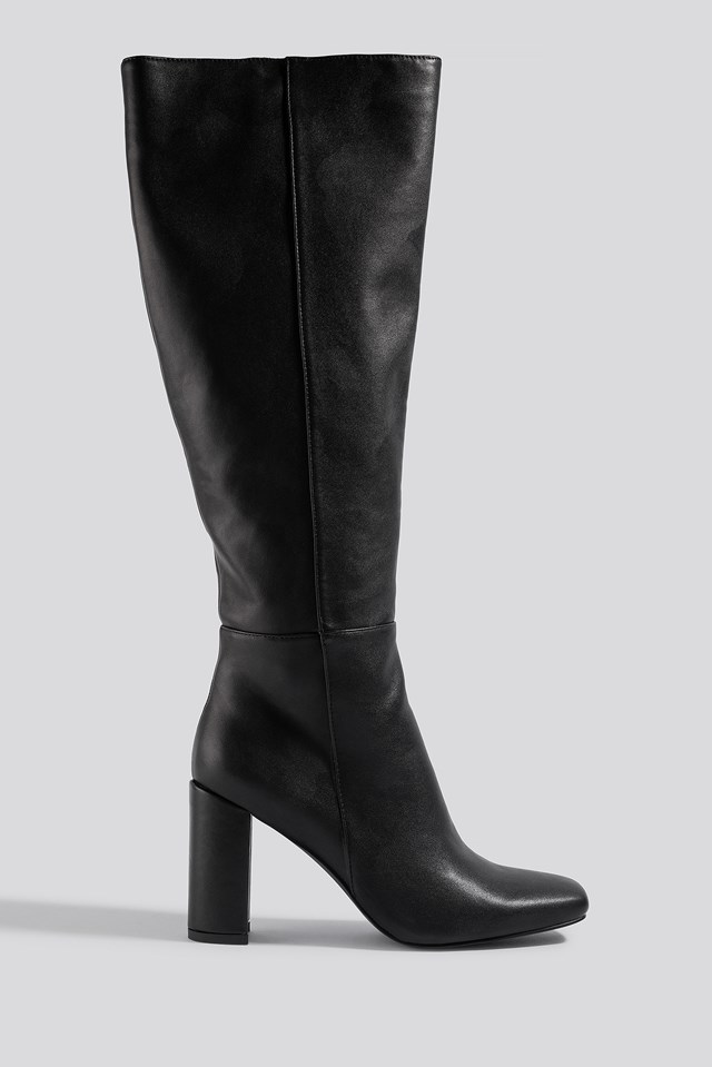 Straight Shaft Knee High Boots NA-KD Shoes