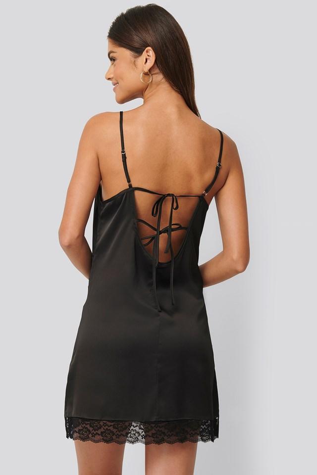 Strappy Night Dress Black