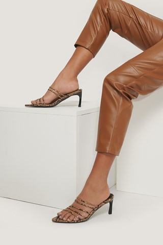 Snake Strappy Pointy Sandals