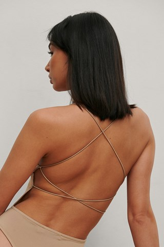 Beige Recycled Straps Back Body