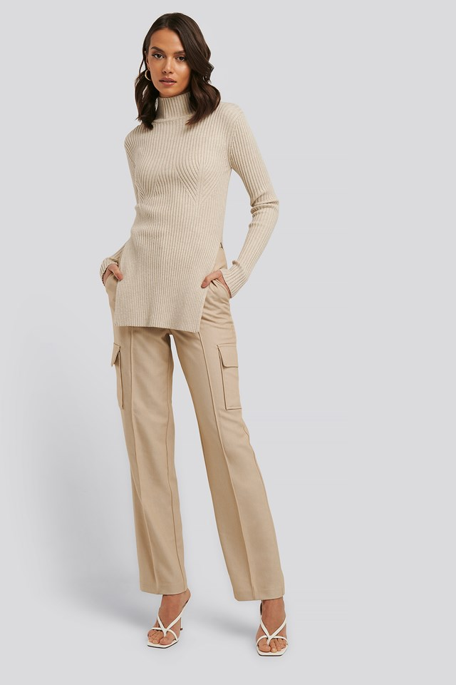 Straight Fit Pocket Suit Pants NA-KD Trend